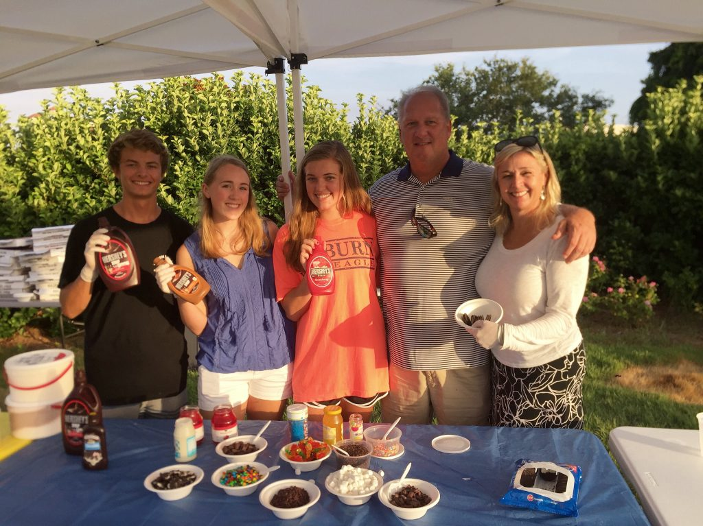 Marty Family serving Ice Cream